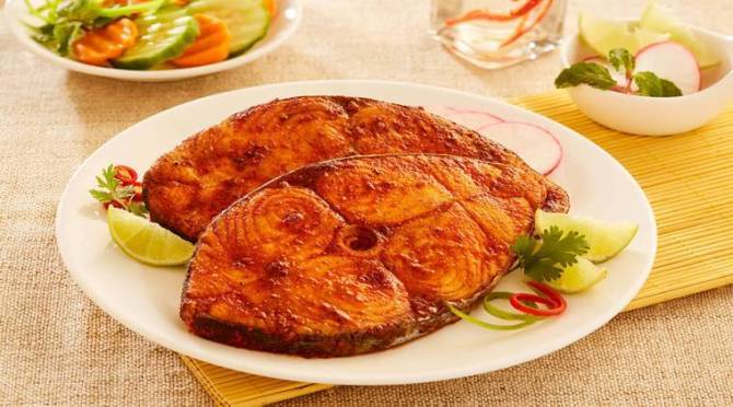 Spicy Masala Fish Fry, Fish Fry in Tamil