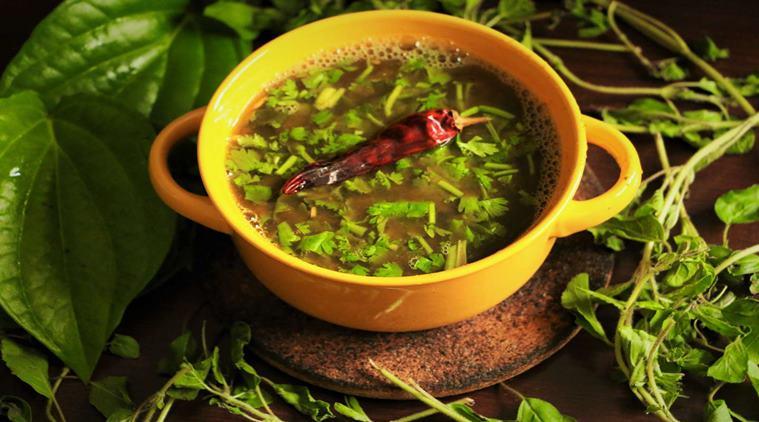 Tulasi Betel Leaf Soup, Thulasi Vethalai Soup