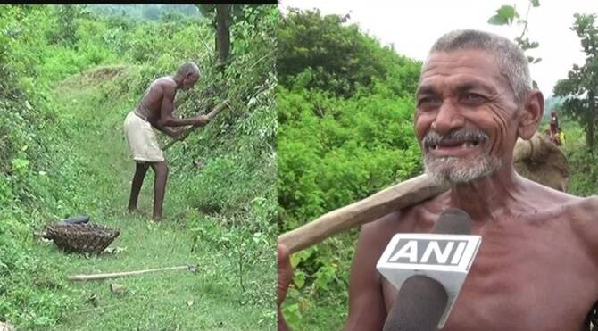 Bihar man digs 3km long canal for last 30 years to bring rainwater to his village