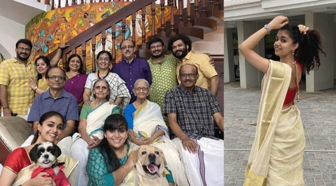 Thiruvonam 2020 : Keerthy Suresh and her family members celebrated Onam