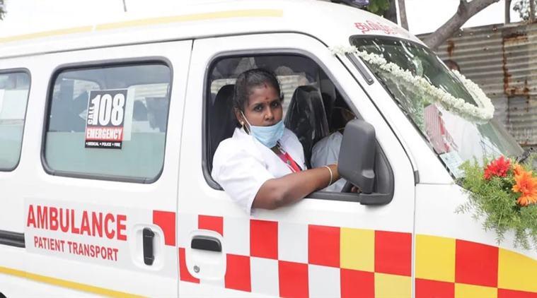 first women ambulance driver