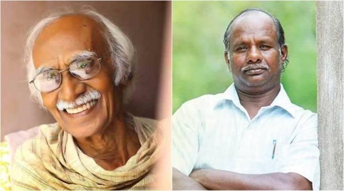 writer ki raa, writer ki rajanarayanan, ki ra award to writer kanmani gunasekaran, கி.ரா, எழுத்தாளர் கண்மணி குணசேகரணுக்கு கி.ரா விருது, கோவை, விஜயா வாசகர் வட்டம், சக்தி மசலா, kovai vijaya reader circle, sakthi masala