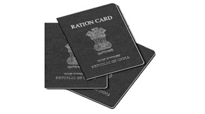 Tokens are distributed for ration card holders