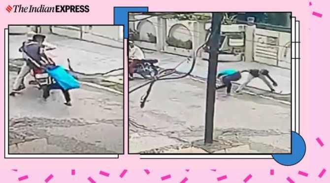 punjab, punjab girl fights phone snatcher, phone snatcher viral video, mobile snatcher bike viral video, brave girl, trending, indian express, indian express news