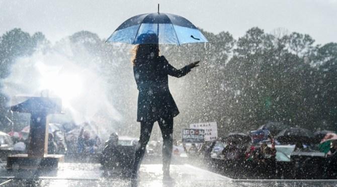 Watch: Kamala Harris dances in the rain