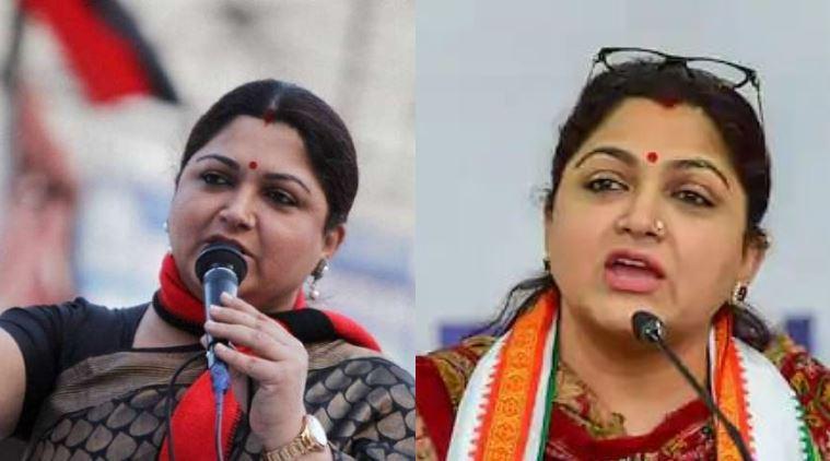 Khushbu Sundar Political Journey dmk to bjp