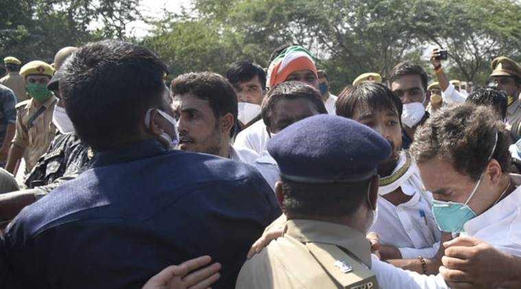 hathras, hathras rape case, hathras case, hathras news, hathras case news, hathras rape case news, ஹத்ராஸ், ஹத்ராஸ் தலித் பெண் கூட்டு பாலியல் கொலை, hathras rape case today news, hathras case news, ராகுல் காந்தி தடுத்து நிறுத்தம், ஹத்ராஸ் செல்ல முயன்ற ராகுல் தடுத்து நிறுத்தம், பிரியங்கா காந்தி, காங்கிரஸ், hathras gangrape case, hathras gangrape case latest news, hathras gangrape case news update, rahul gandhi, priyanka gandhi, hathras section 144, hathras gangrape, hathras rape protests, rahul gandhi hathras