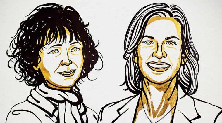 2020ம் ஆண்டு வேதியியலுக்கான நோபல் பரிசு 2 பெண்களுக்கு கூட்டாக அறிவிப்பு
