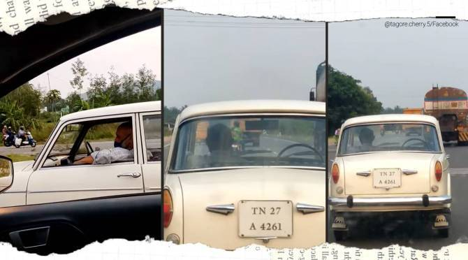 Driverless fiat viral video leaves netizens shock reason revealed tamil news