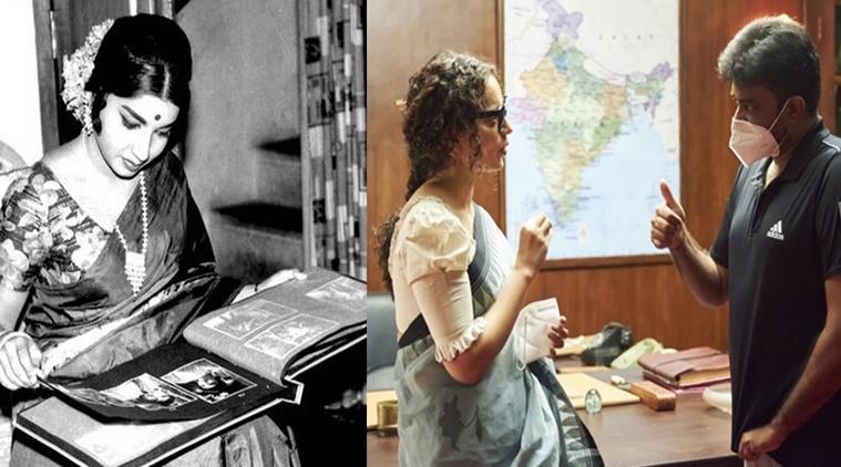 Actress Kangana Ranaut shares photos of thalaivi shooting spot discussion with AL Vijay
