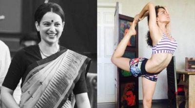 kangana ranaut workout, kangana ranaut thalaivi weight gain, kangana ranaut yoga, king dancer pose, king dancer pose benefits