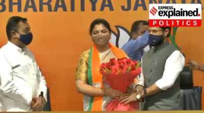 Khushbu Sundar, kushboo joins bjp, Khushbu Sundar joins BJP, குஷ்பு பாஜகவில் இணைந்தார், குஷ்பு, குஷ்பு சுந்தர், காங்கிரஸ், பாஜக, BJP Khushbu Sundar, Khushbu Sundar Congress BJP, BJP Khushbu Sundar, Express Explained,