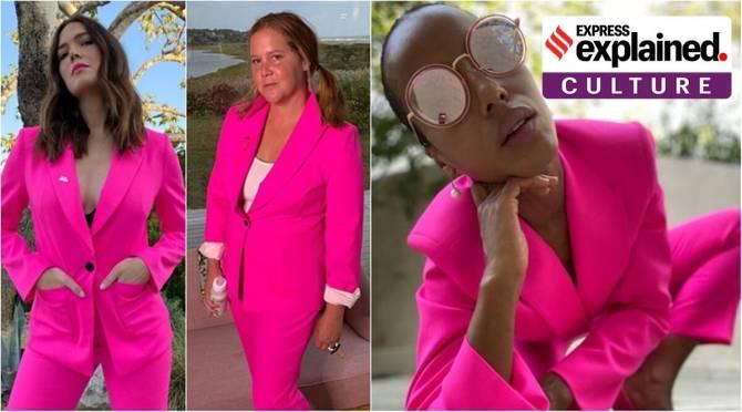 Pink suit politics hollywood hilary clinton tamil news