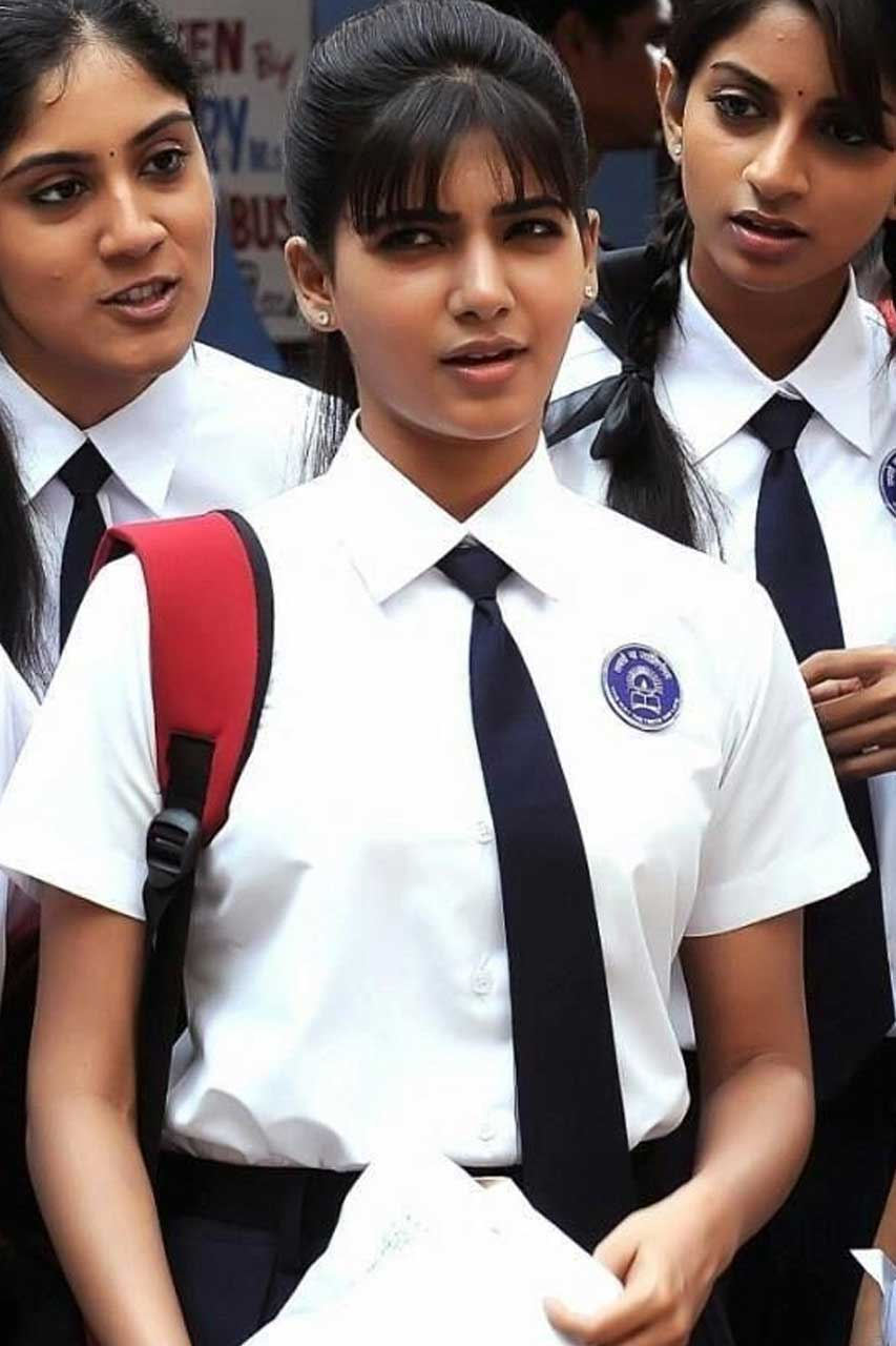 Actress in School Uniform - Samantha Akkineni