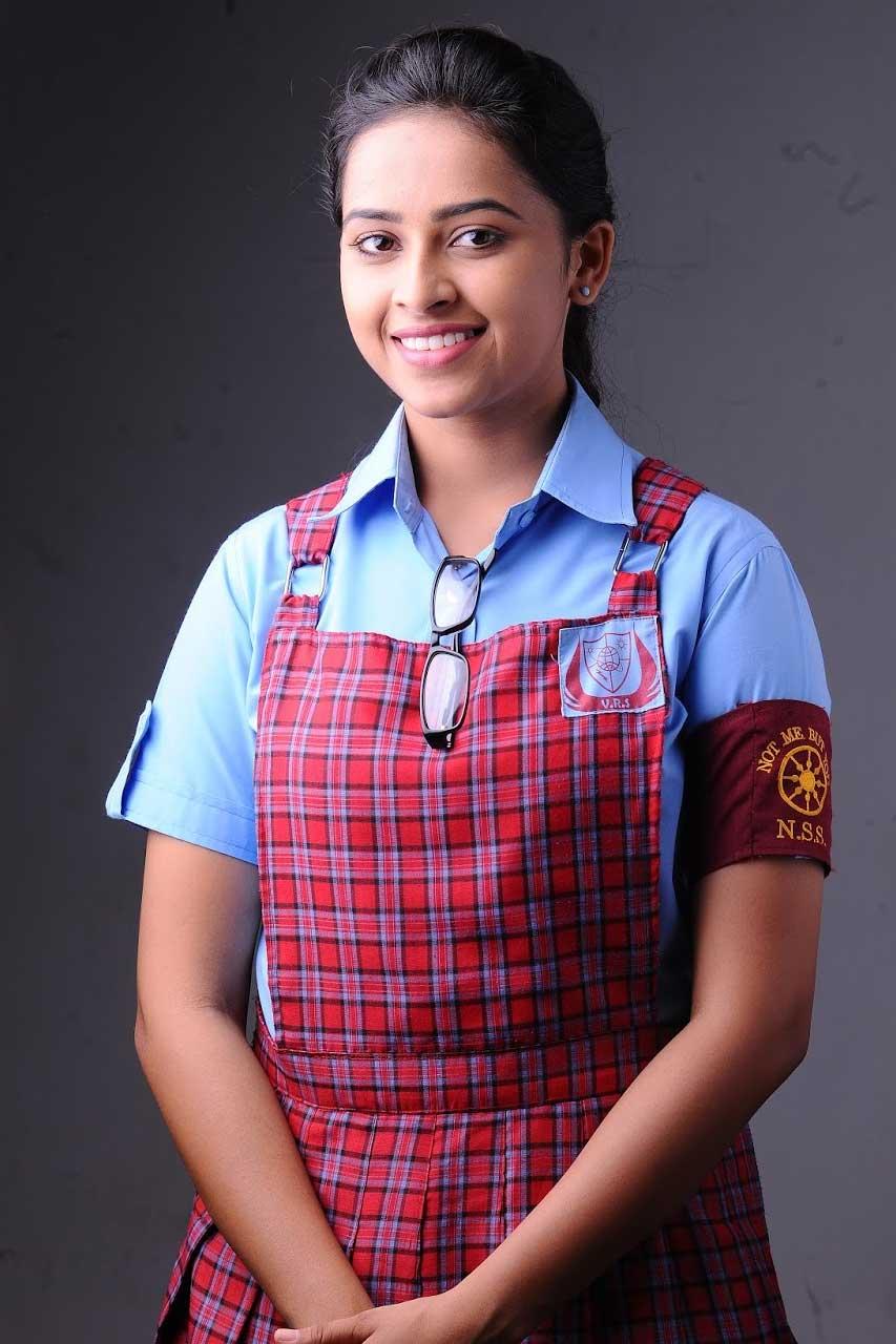 Actress in School Uniform - Sri Divya