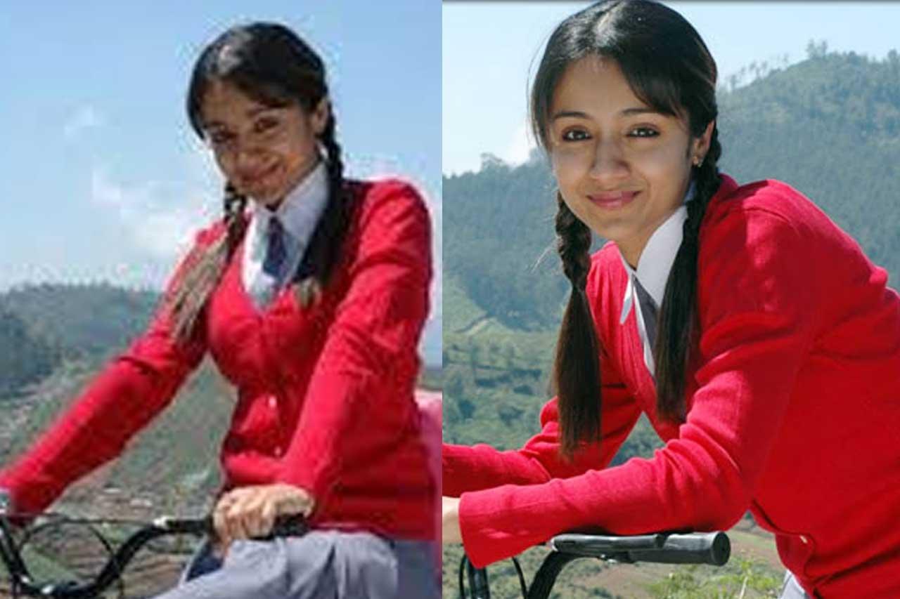 Actress in School Uniform - Trisha