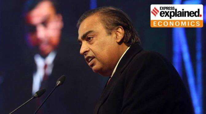 What led to the 8.6% fall in Reliance Industries (RIL) shares