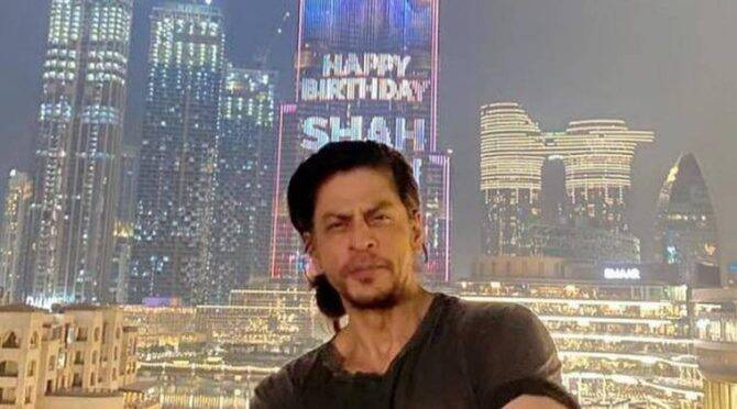 SRK features on Burj Khalifa on 55th birthday