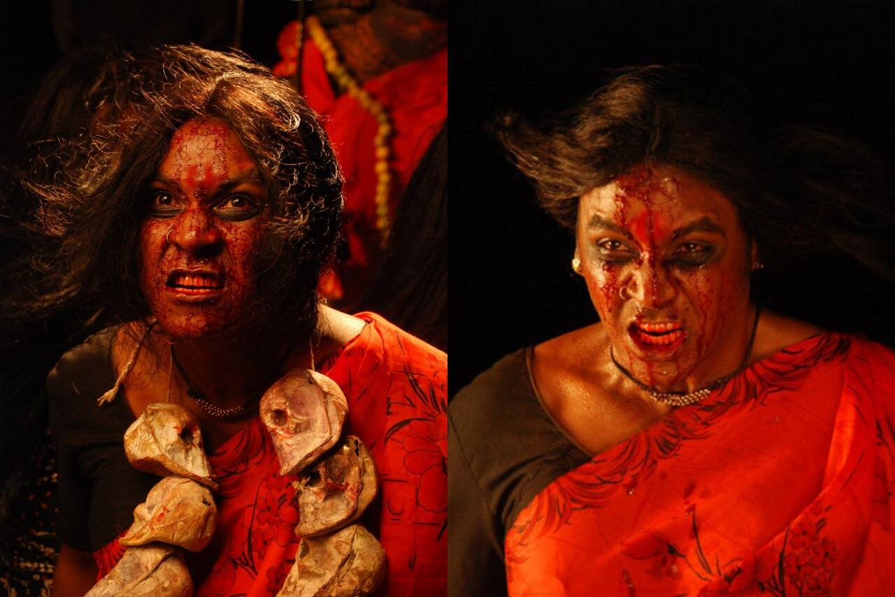 Tamil actors in Lady Getup - Raghava Lawrence