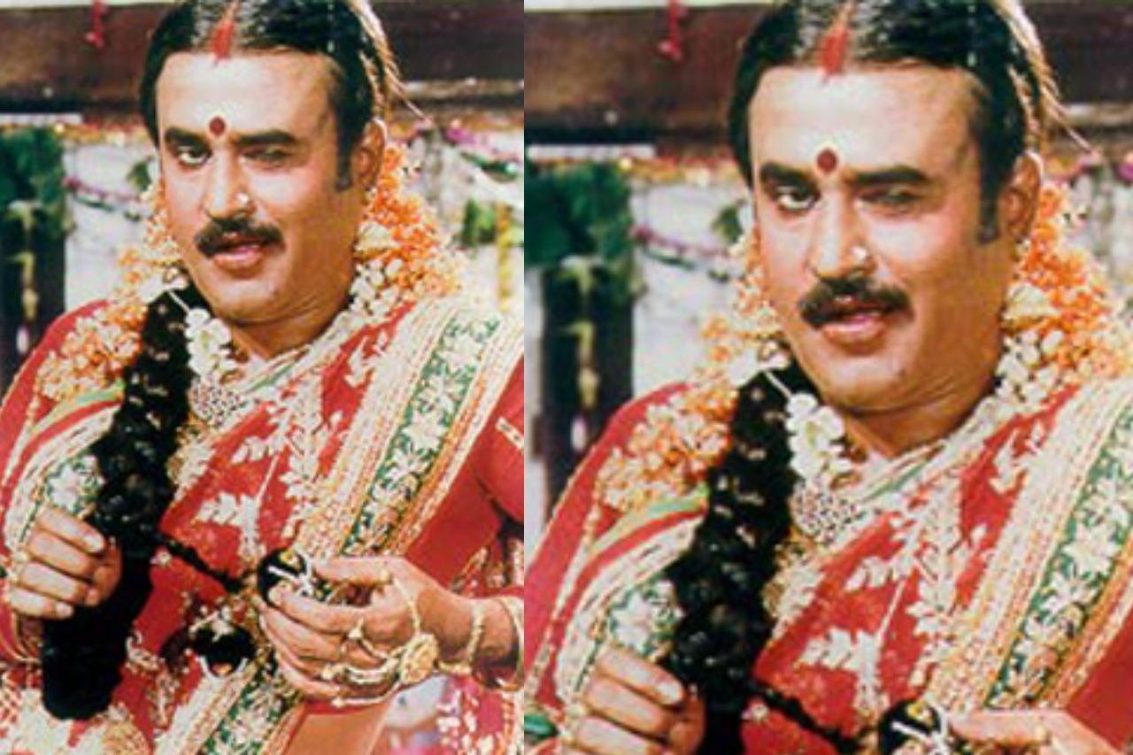 Tamil actors in Lady Getup - Rajinikanth