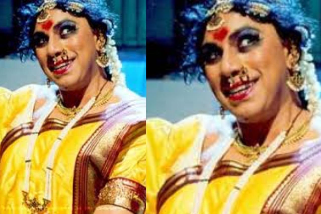 Tamil actors in Lady Getup - Sathyaraj