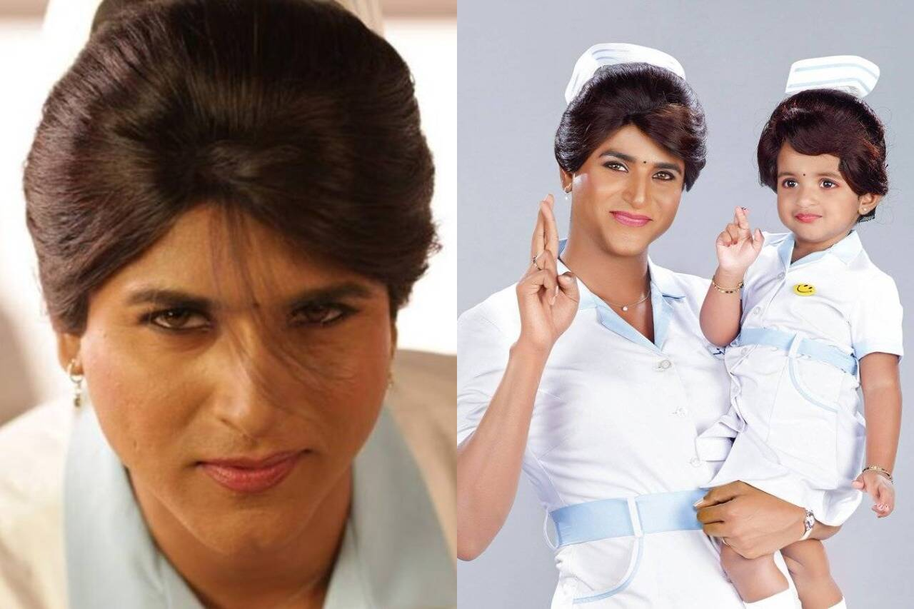 Tamil actors in Lady Getup - Sivakarthikeyan