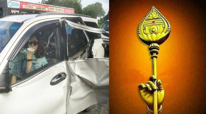 Khushbu car accident Khushbu sundar twitter