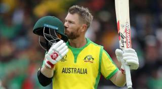 david warner third odi against india