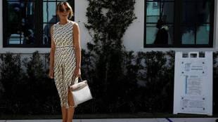 Melania Trump votes America Election 2020 in Gucci costume controversy Tamil News