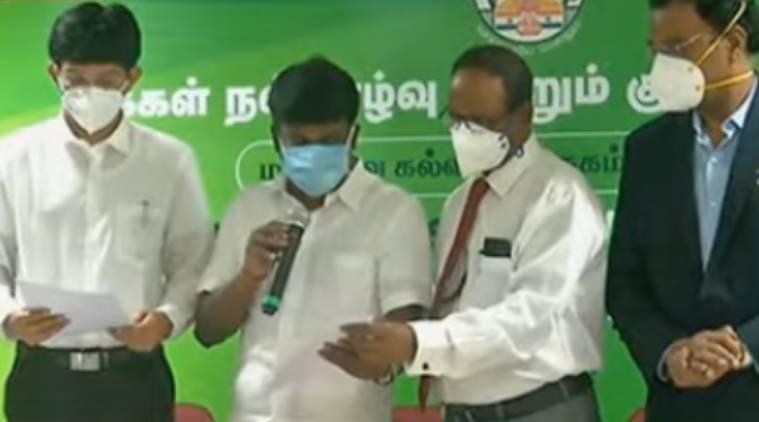 minister vijayabaskar, minister vijayabaskar releases rank list, எம்பிபிஎஸ் தரவரிசைப் பட்டியல் வெளியீடு, அமைச்சர் விஜயபாஸ்கர், எம்பிபிஎஸ், பிடிஎஸ், தமிழக அரசு மருத்துவப் படிப்பு தரவரிசை பட்டியல், MBBS rank list, BDS rank list, medical counselling, Tamil Nadu medical counselling, medical rank list, tamil andu, latest tamil news