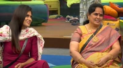 Bigg Boss 4 Tamil Vijay Tv Ramya Rio Som family meet Aari Gaby review Day 87