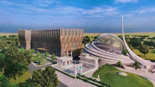 ayodhya mosque, ayodhya ram temple, ayodhya mosque construction, அயோத்தி, மசூதி வரைபடம் வெளியீடு, இந்தோ இஸ்லாமிக் கலாச்சார அறக்கட்டளை, Indo-Islamic Cultural Foundation Trust, ayodhya mosque blueprint, tamil indian express news