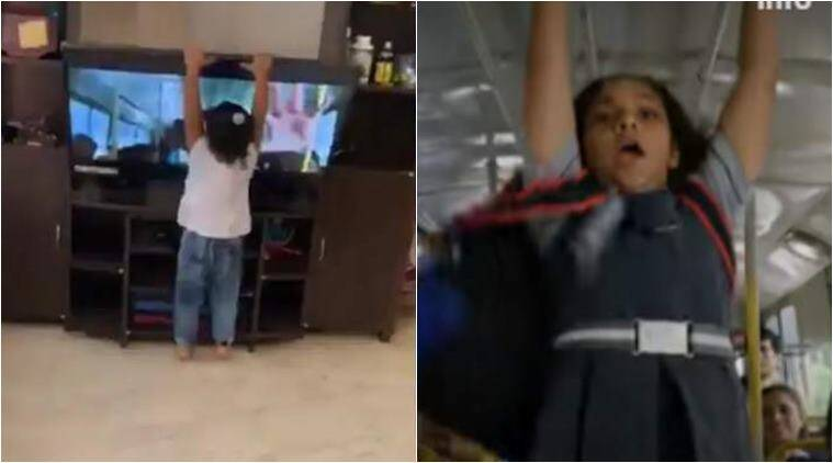 lakshmi movie, little girl brings down TV, little girl dancing to Tamil song, Morrakka matrakka song, லக்ஷ்மி, மொர்ராக்கா மட்ராக்கா, டிவியைக் கவிழ்த்த குழந்தை, viral video, வைரல் வீடியோ, child brigs down tv