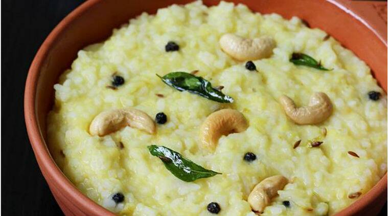 Ven Pongal recipe hotel style Ven Pongal