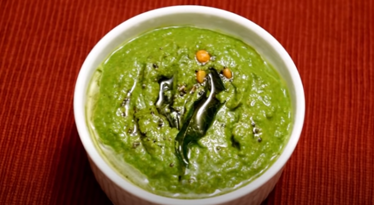 Malli Chutney Breakfast Coriander Chutney Recipe Tamil