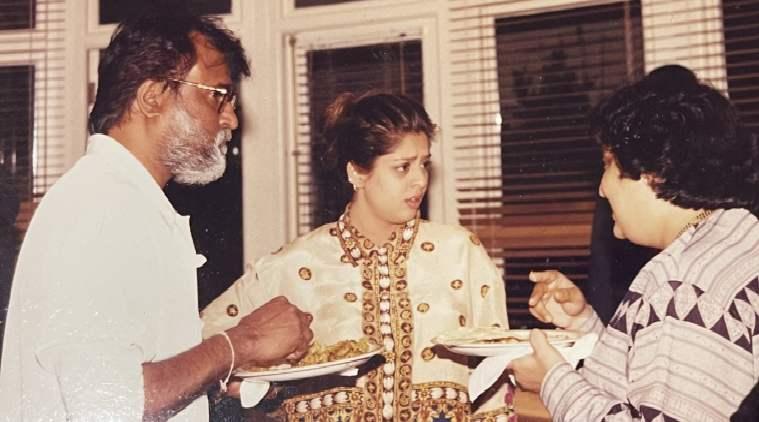 RAJINIKANTH - NAGAMA VIRAL PHOTO - நடிகர் ரஜிகாந்த் - நடிகை நக்மா இணையத்தில் வைரலாகும் புகைப்படம்.