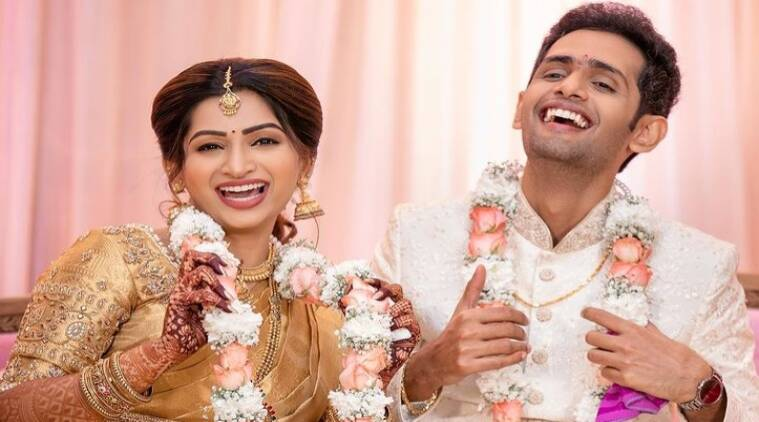 Nakshthra Ragav Engagement Pictures gone viral Fans reminds of VJ Chithu Tamil News
