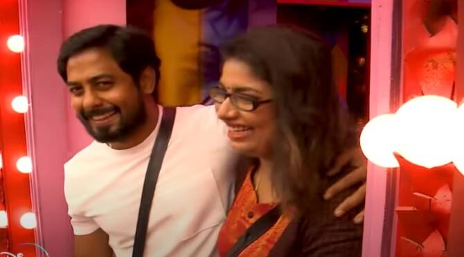 Bigg Boss 4 Tamil Vijay Tv Aari Gaby Aajeeth family meet review Day 88