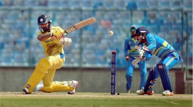4th win for tamilnadu cricket team Dinesh Karthik jagathisan -தமிழக அணிக்கு 4-வது வெற்றி: ஜெகதீசன், தினேஷ் கார்த்திக் அபாரம்