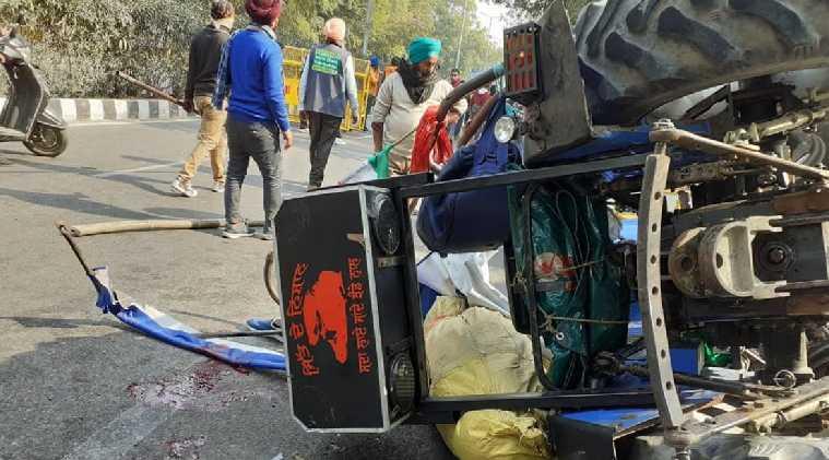Delhi Farmers' protests turn violent and the tractor rally protest 27-year-old youngster Navneet Singh dies at Delhi capital - டெல்லி டிராக்டர் பேரணியில் பலியான நவ்ரீத் சிங்: இறப்புக்கான காரணம் குறித்து முரண்பட்ட தகவல்