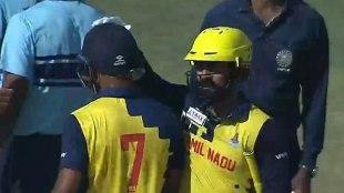 Tamil Nadu reachs Syed Mushtaq Ali Trophy final Arun Karthik's 89 with Dinesh partnership -இரு 'கார்த்திக்'கள் அபாரம்: தோல்வியே காணாமல் ஃபைனலுக்கு வந்த தமிழகம்