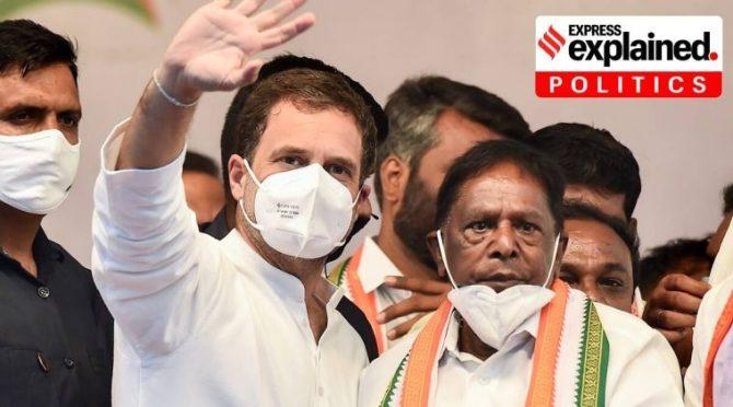 Puducherry, Puducherry political crisis, Congress govt in Puducherry, Puducherry news, Kiran Bedi, Indian Express