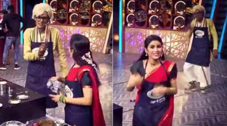 vijay tv, cook with comali, bakyalakshmi serial, actress rithika, விஜய் டிவி, குக் வித் கோமாளி, பாக்யலட்சுமி சீரியல், ரித்திகா, kpy, bala, comedian bala