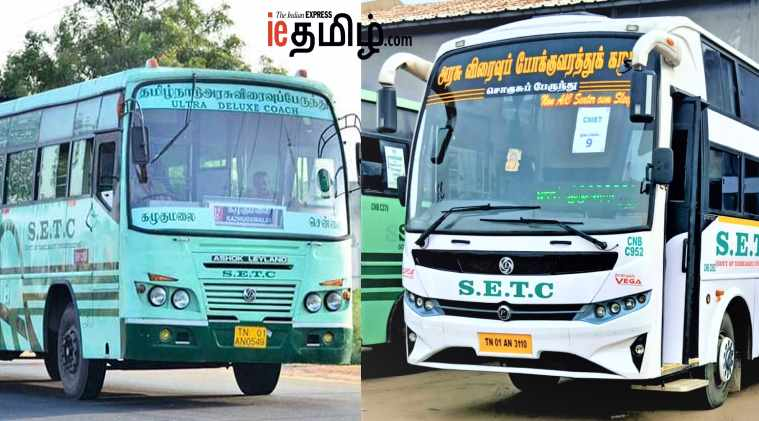 New board for SETC bus to Coimbatore and Madurai from Velachery and T.nagar.