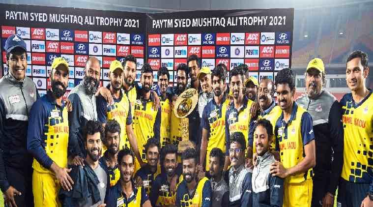 , Tamilnadu wins after 14 years Dinesh Karthik leads to T20 success for second time and team dances for vaathi coming song. -14 ஆண்டுகளுக்கு பிறகு சாதனை: 'வாத்தி கம்மிங்' டான்ஸ் ஆடிய தமிழக அணி