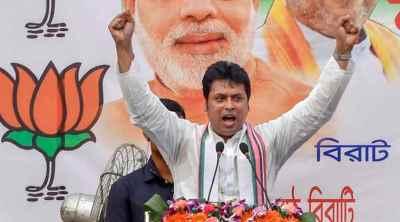 Tripura, Biplab Deb, Bharatiya Janata Party, திரிபுரா, திரிபுரா முதல்வர் பிப்லவ் தேவ், பிப்லவ் தேவ், பாஜக, Union Home Minister Amit Shah, BJP Tripura, இலங்கை, நேபாளம், அமித்ஷா, BJP in Nepal, BJP in Sri Lanka, BJP expansion, northeast news, tamil indian express