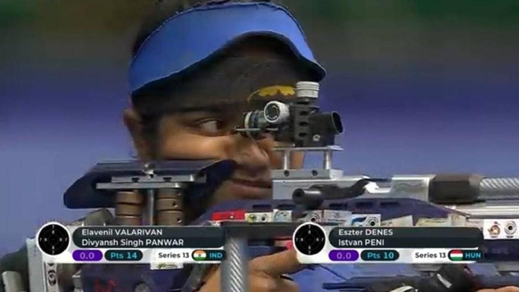 ISSF World Cup tamil news India's Elavenil Valarivan, Divyansh Panwar clinch gold in ISSF World Cup