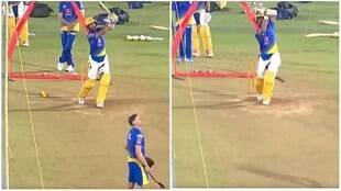 Ipl 2021 cricket Tamil News; Cheteshwar Pujara smashes sixes in CSK's nets with new batting stance