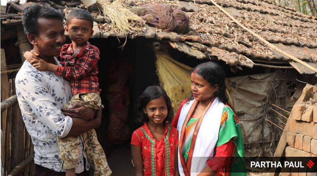 West Bengal: BJP Bankura face is a daily wager's wife, without toilet, running water