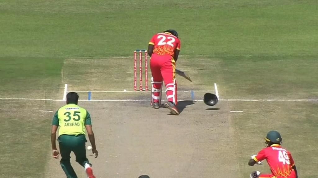 Cricket news in tamil: Debutant Arshad Iqbal breaks batsman's helmet with bouncer: Watch video